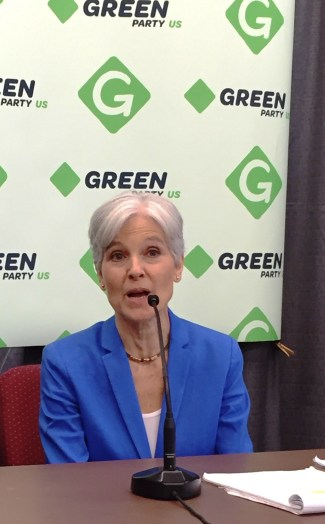 jill Stein holds a media briefing at the University of Houston, August 6, 2016. Photo Credits: (c) 2016 Harold Michael Harvey