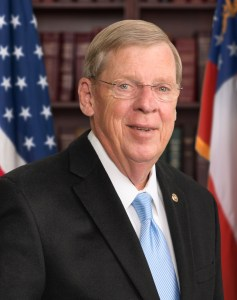 Senator Johnny Isakson from Georgia is expected to win his third term next month.
