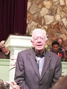 Jimmy Carter Teach Sunday School June 18 2017 1