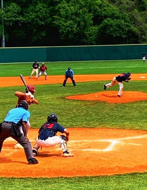 Baseball action Lane College v Tuskegee University, April 7, 2019