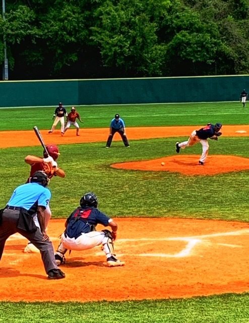 Baseball action Lane College v Tuskegee University, April 7, 2019