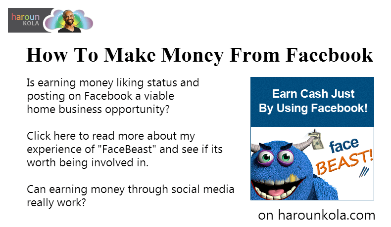 How To Make Money From Facebook With FaceBeast