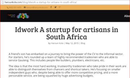 Idwork A startup for artisans in South Africa