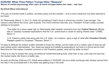 """EURUSD: When Price Pattern Trumps Other """"Reasons"""""""