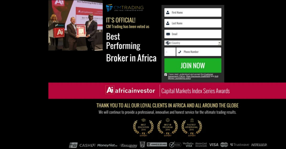CM Trading. The Most Popular South African Regulated Broker