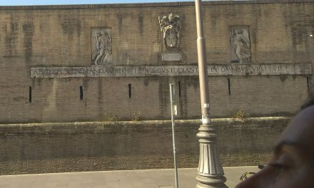 Passing by Vatican City on the way to Roma Termini