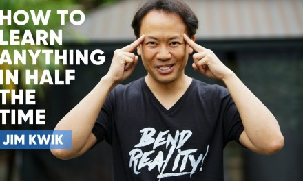 It's not about WHAT you learn, It's about HOW you learn. Jim Kwik Masterclass on Being A Super Learner