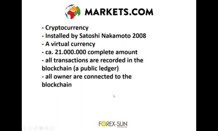 Live Trading Cryptocurrencies Including Bitcoin With Markets.com