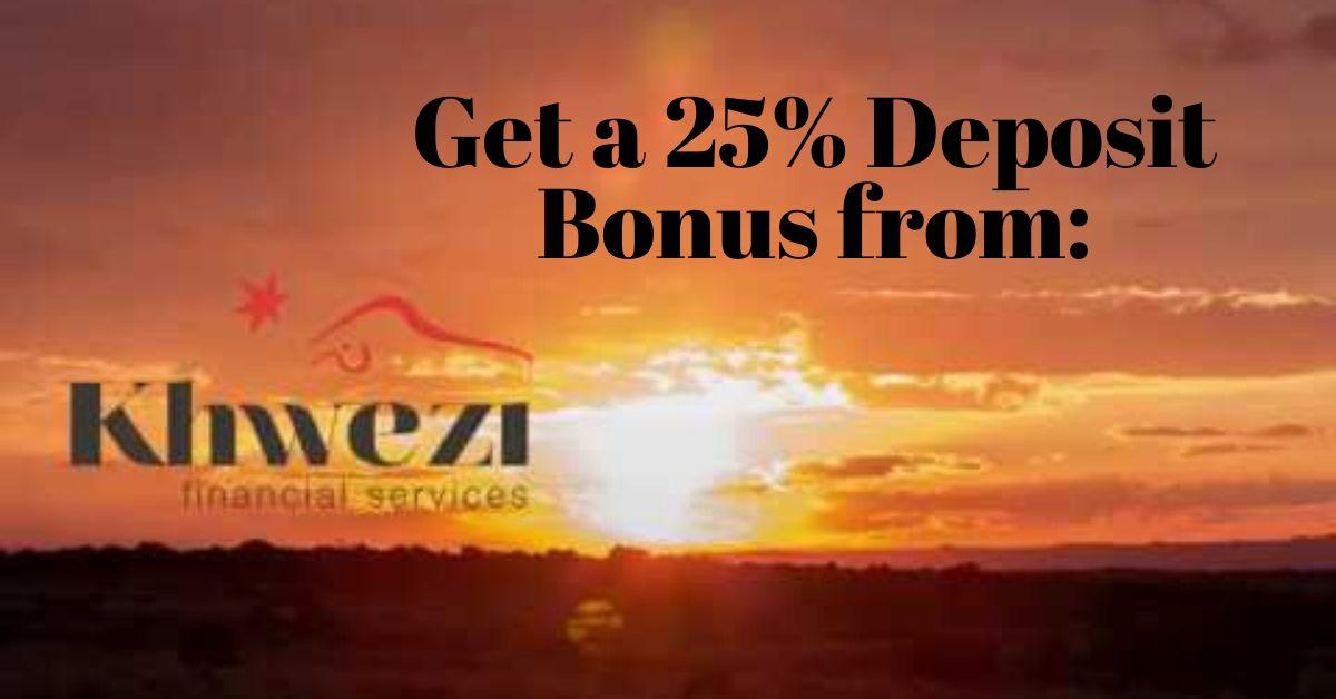 Khwezi Trade offers a 25% Bonus on Deposits