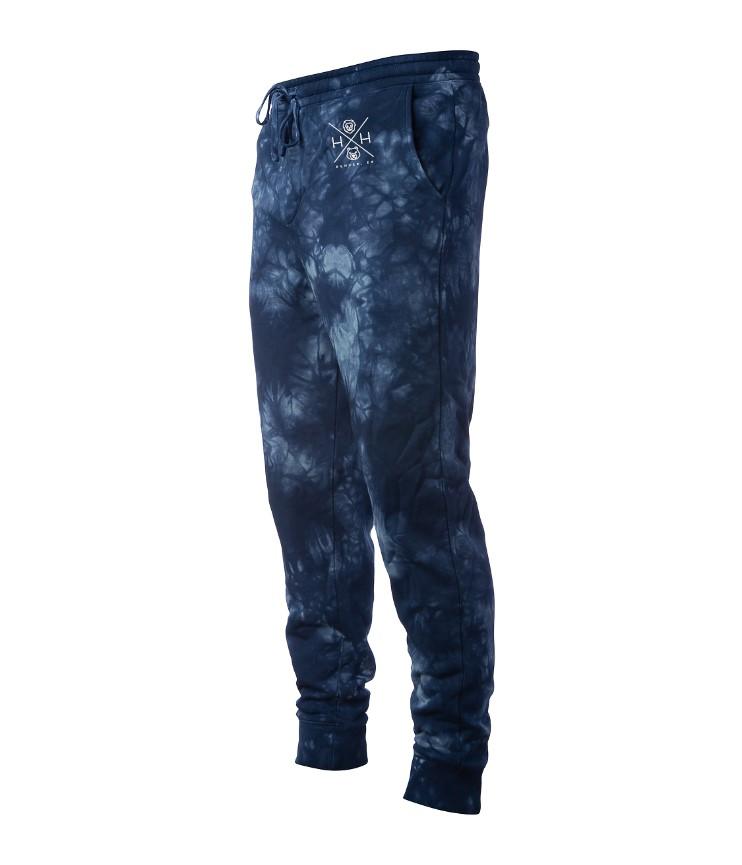 Men's Tie Dye Navy Joggers