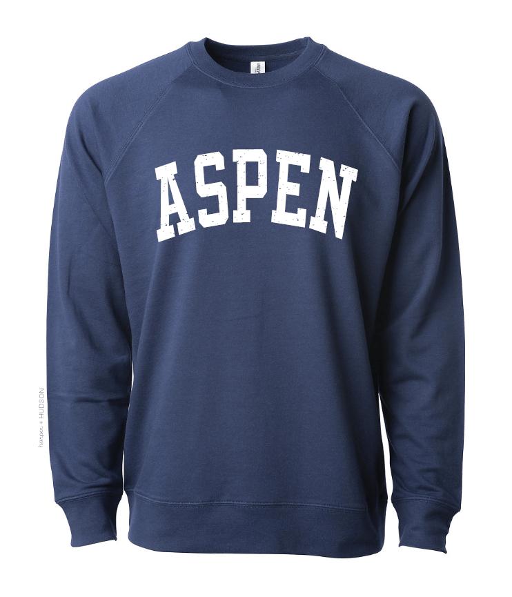 Aspen Crew Sweatshirt Indigo