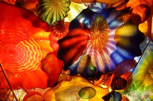 Abstract colors of blown glass