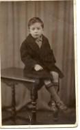 Bob Thompson as a child