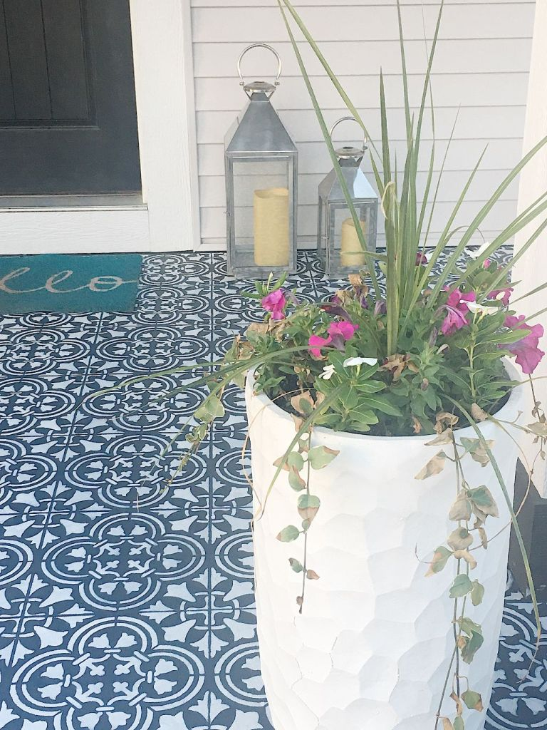 Front Porch Stencil Project