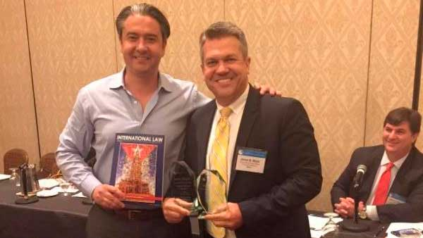 James Meyer receives Editors' Choice Award from the International Law Quarterly