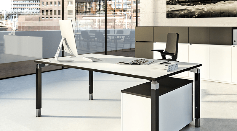 A table system with style. Tasteful design for the most varied of requirements thanks to the comprehensive choice of materials and numerous optional function extensions