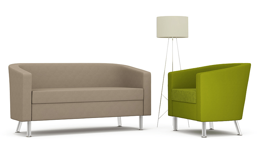 A neat and desirable modern tub chair, understated but smart in appearance, the range provides an ideal solution for contemporary front of house applications