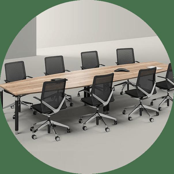 A boardroom desk in the office desks and computer desks range