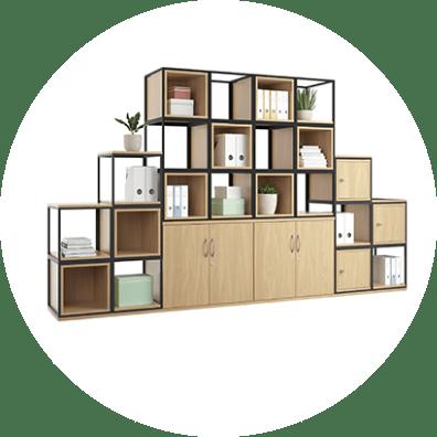 Image of bespoke storage in Office Storage range
