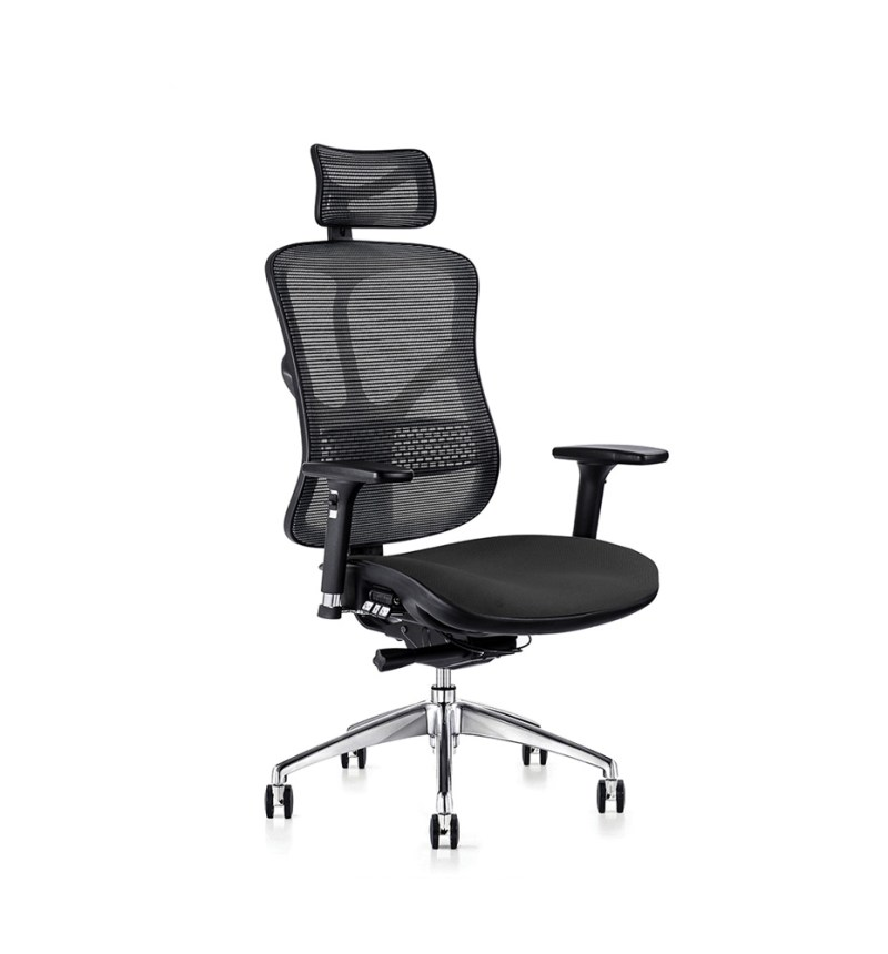 F94 ergonomic chair with fabric seat and ergonomic head rest