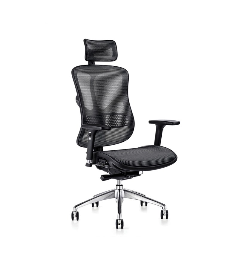 F94 ergonomic chair with mesh seat and ergonomic headrest