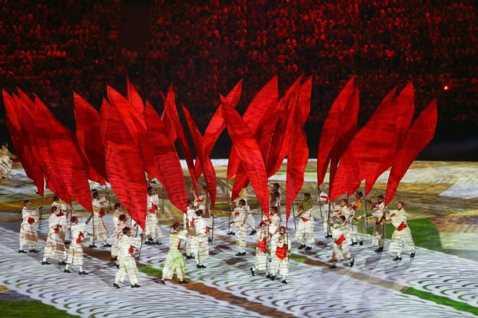 Opening ceremony: An artists' performance welcomes the world to the Games.