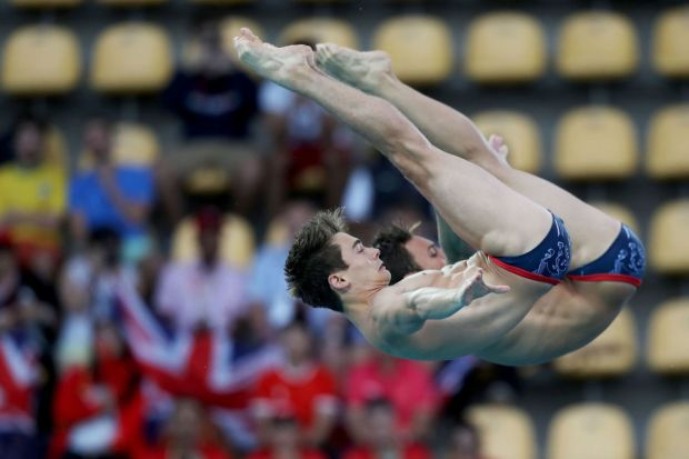 Day three: Tom Daley and Daniel Goodfellow compete in the Men's Synchronised Diving Final.
