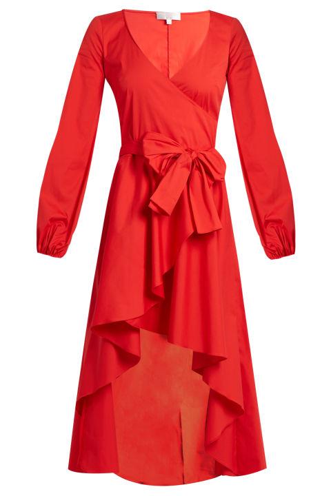 Caroline Castos wrap dress