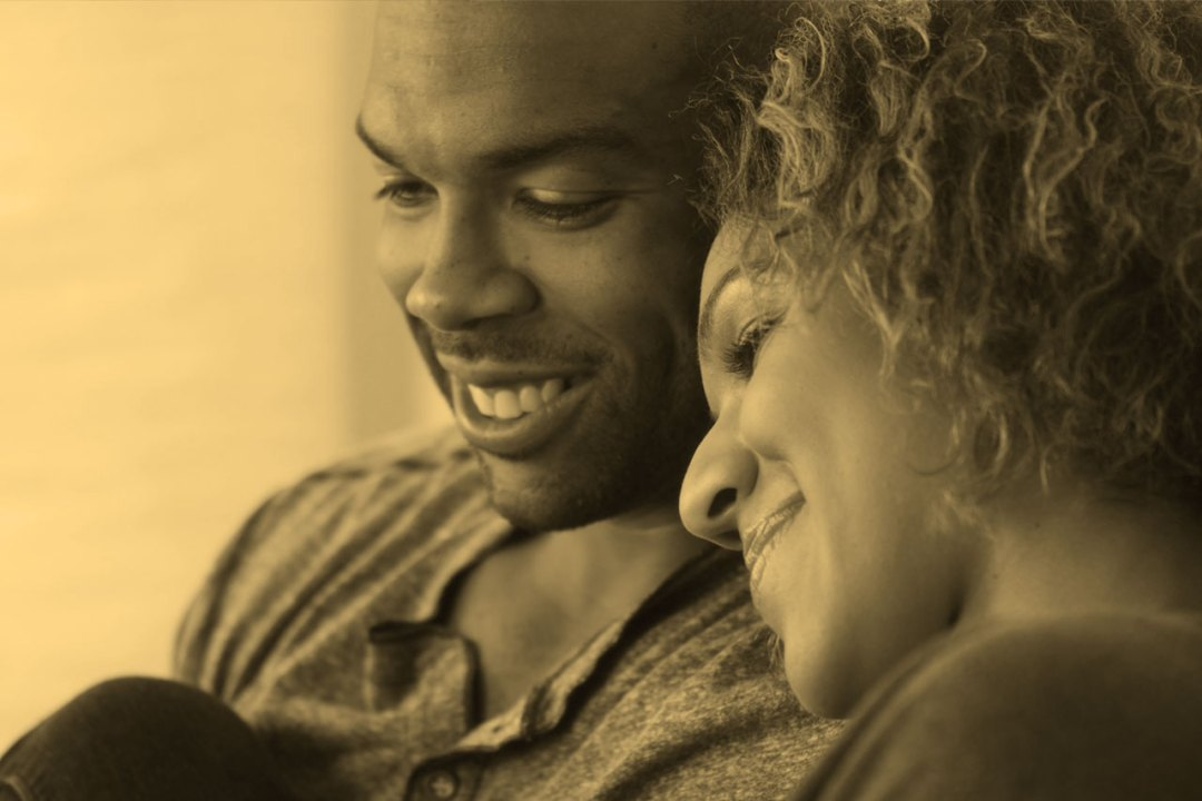 contented African American couple