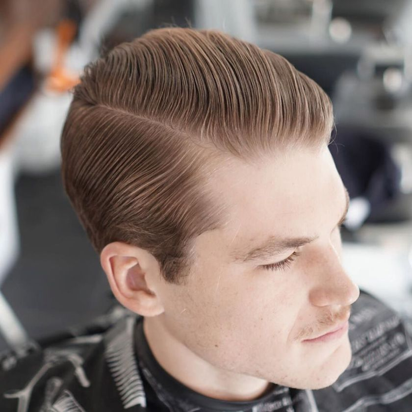 Classic Slicked Back Hairstyle 12