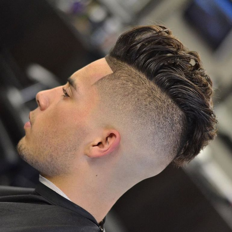 Medium Hairstyles for Men: Cool Under-Hawk 11