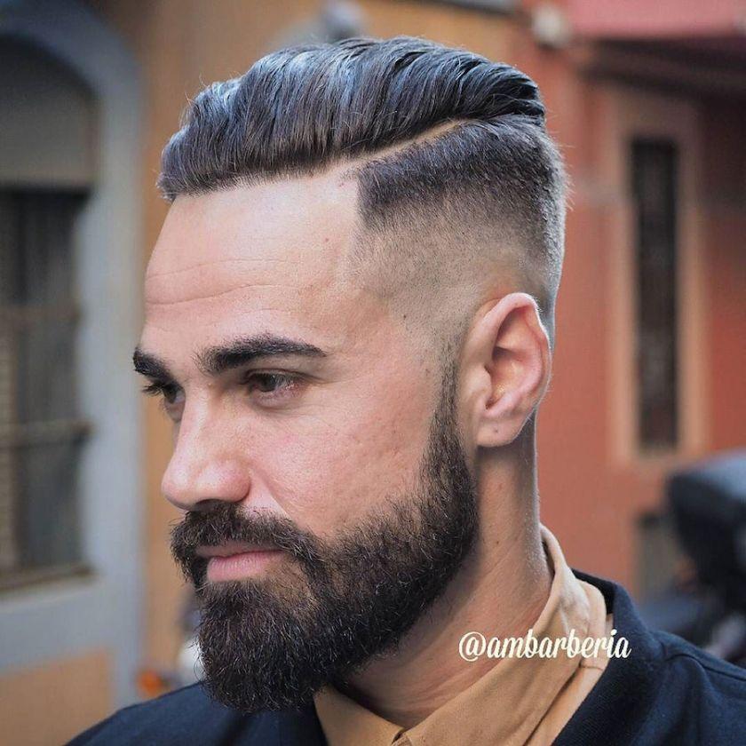 Half Hard Part + Slicked Back Hair 17