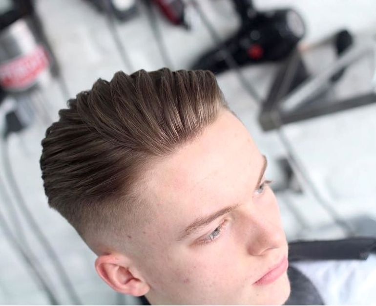Medium Length Hairstyles for Men: High Fade + Comb Styling 8 - harpmagazine-com
