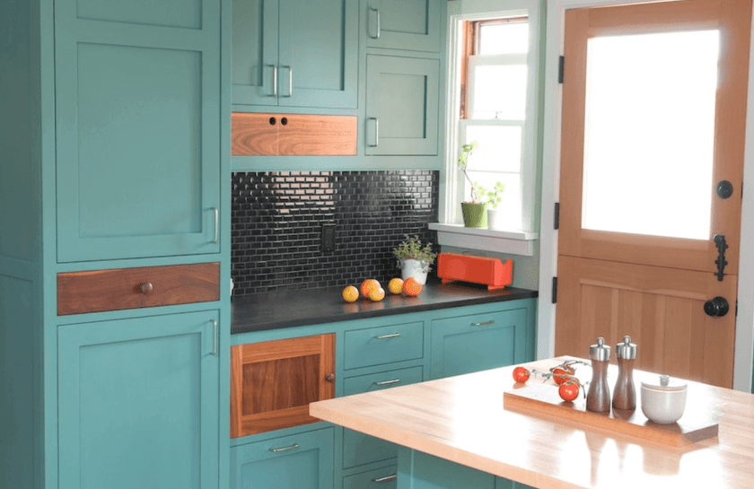 Painted Kitchen Cabinet Ideas Bold Colors
