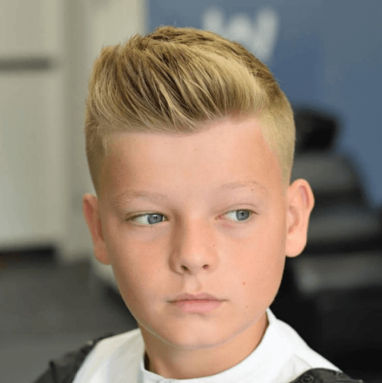 Short Pompadour Kids Hairstyles