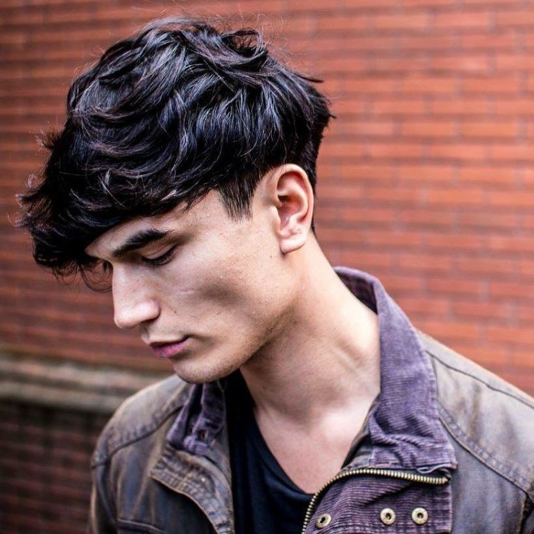 Medium Length Hairstyles for men: Textured Crop + Heavy Fringe - harpmagazine-com