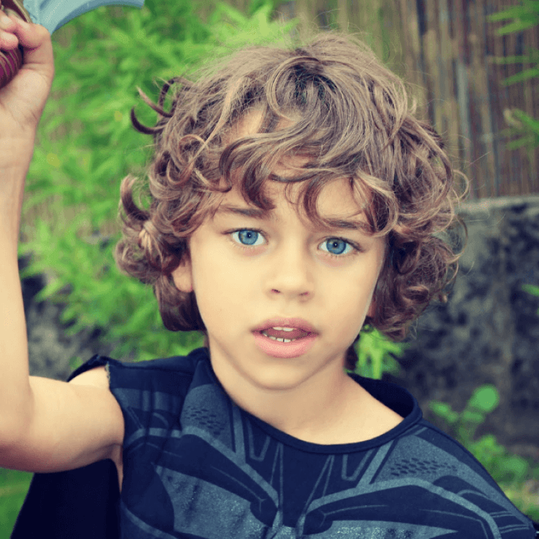 curly hair kids styles hairstyles ideas trendy and toddler boy 5143 | Wavy Shag Kids Hairstyles