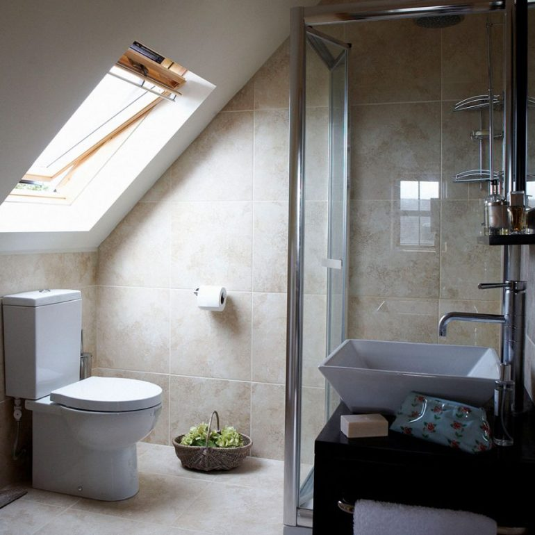 Small Bathroom Decor Ideas - Make Space Beneath The Eaves on Small Bathroom Decor Ideas - harpmagazine.com