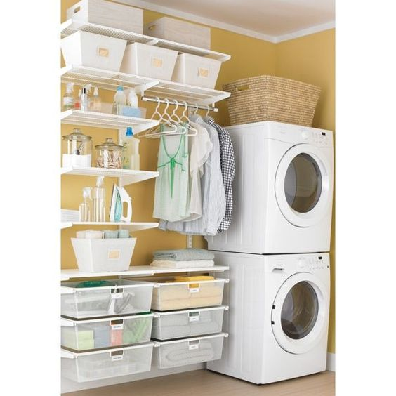 7 Open Shelves Storage Laundry Room Ideas