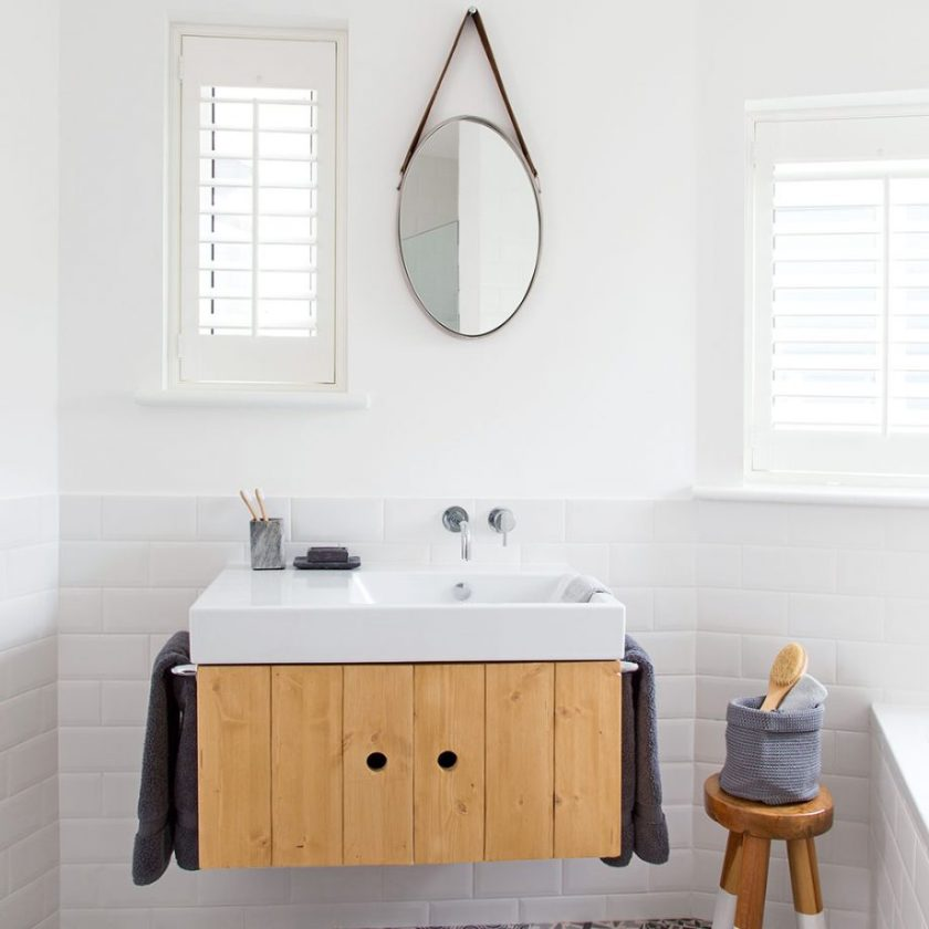 Work in Wall-hung Units for Small Bathroom Decor Ideas
