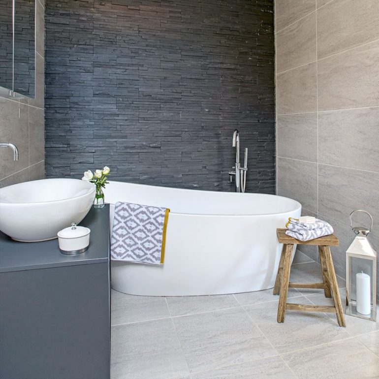 Small Bathroom Decor Ideas - Same Tiles On Small Bathroom Floor Plans and Walls - harpmagazine.com