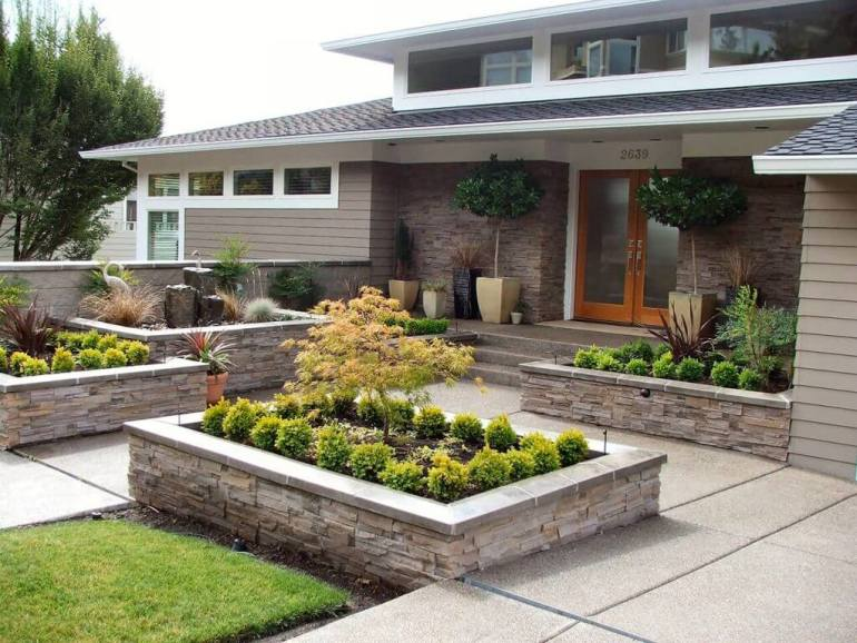 Front Yard Landscaping Ideas: Innovative Japanese Yard Beds