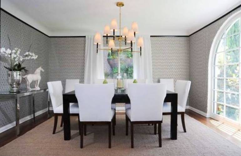 Dining Room Wall Paper That Makes Room Bigger