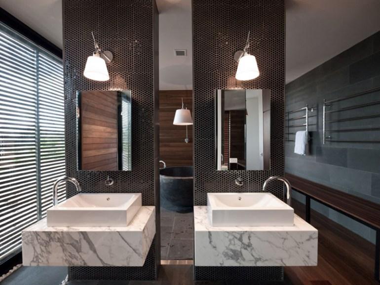 Bathroom Mirror Ideas - Two Rectangular Mirrors 4 - harpmagazine.com