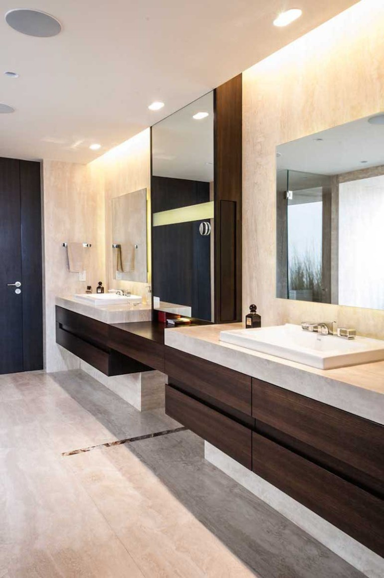 Bathroom Mirror Ideas - Two Square Mirrors - harpmagazine.com
