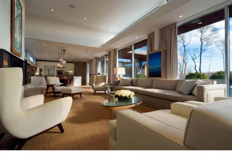Low Basement Ceiling Ideas - Raise the hanging of window treatments - harpmagazine.com