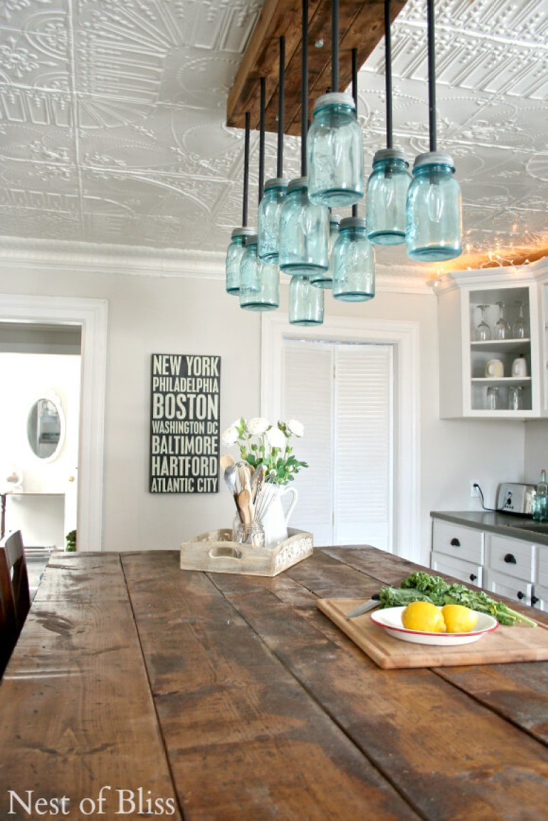 Kitchen Lighting Ideas - Capiz Chandelier C - harpmagazine.com