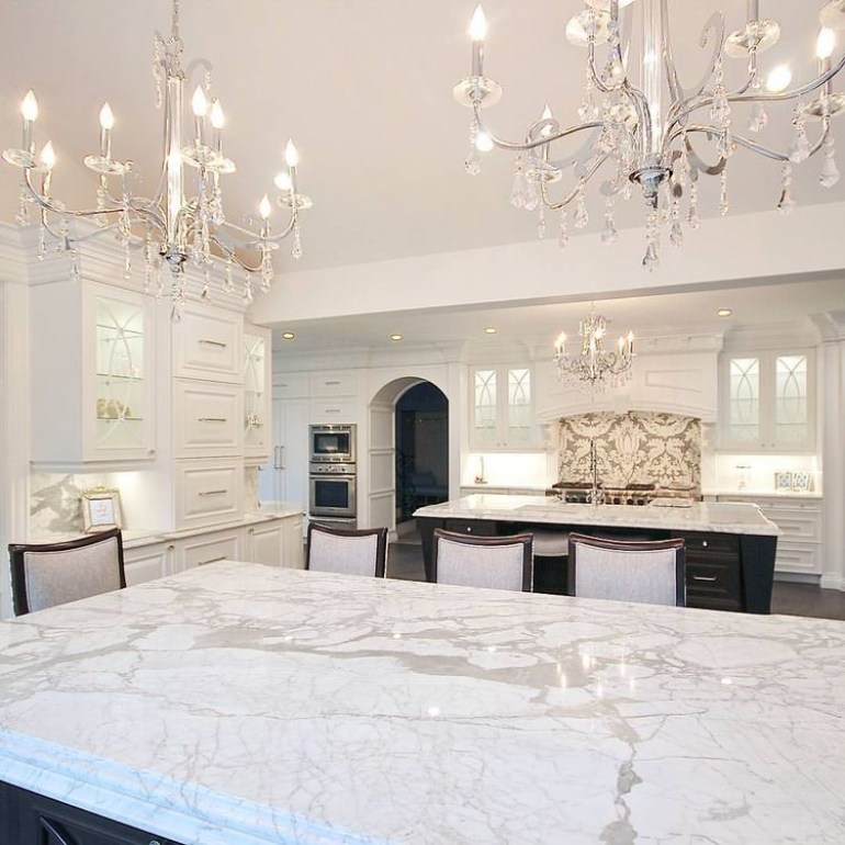 Kitchen  Lighting Ideas - Glam Chandeliers E - harpmagazine.com