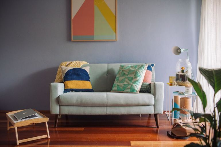 Painted an Accent Wall Ideas Living Room - harpmagazine.com