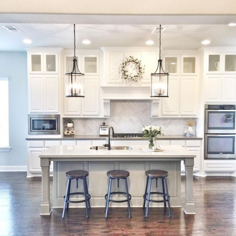 Kitchen Lighting Ideas - White All - harpmagazine.com